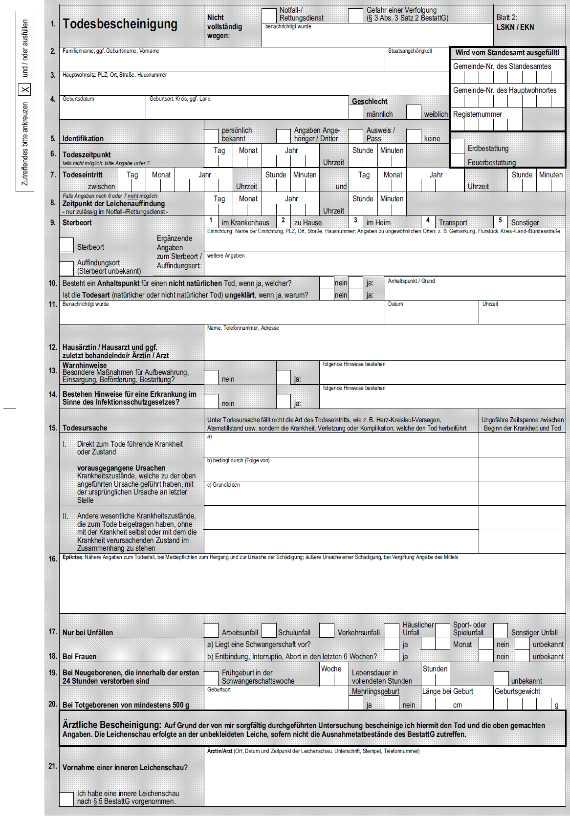 Totenschein Rechnung Muster : der totenschein informationen zu inhalt und kosten ~ Themetempest.com Abrechnung